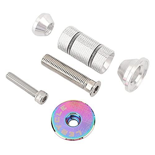 SunniMix Expansor de Auriculares para Bicicleta y Tapa, Tapa de Auriculares de aleación de Aluminio Llave expansor compresor Enchufe Piezas - Tapa Colorida