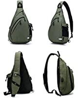 TurnWay Water-Proof Sling Backpack/Crossbody Bag/Shoulder Bag for Travel, Hiking, Cycling, Camping for Women & Men (Green)