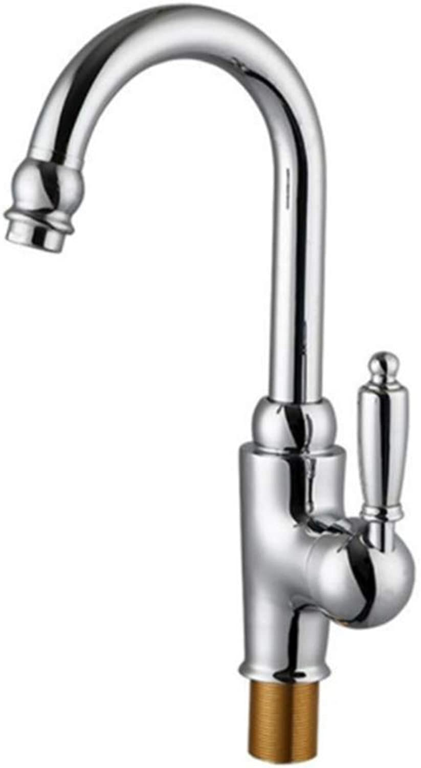 Taps Kitchen Basin Mixer Pull Out Mixerkitchen Faucet Chrome Plated Copper Single Handle Sink Faucet Tap in The Kitchen Hot and Cold Mixer