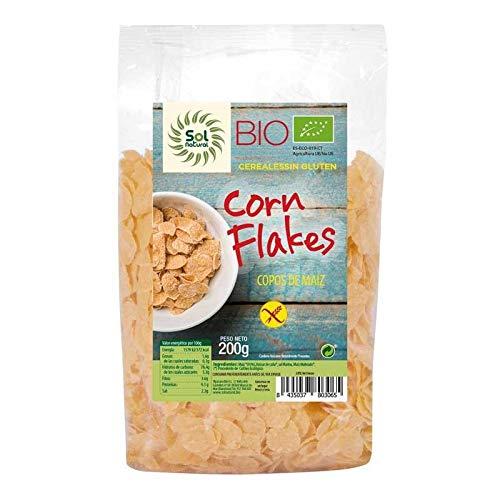 SOLNATURAL Corn Flakes SIN Gluten Bio 200 g, Estándar, Único