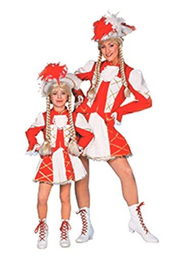 Jannes - Tanzmariechen Kostüm Kinder, Rot Weiß 104