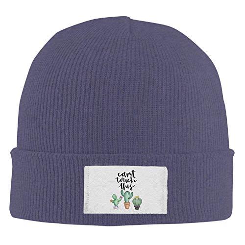 XCNGG Unisex Beanie Cap, kann Cactus Knitted Hedging Nicht berühren Warm Solid Color Classic Hut für den täglichen Winter im Freien