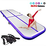 FBSPORT 4 inches Thickness airtrack,26.24ft Tumble Track air mat for Gymnastics Training/Home...