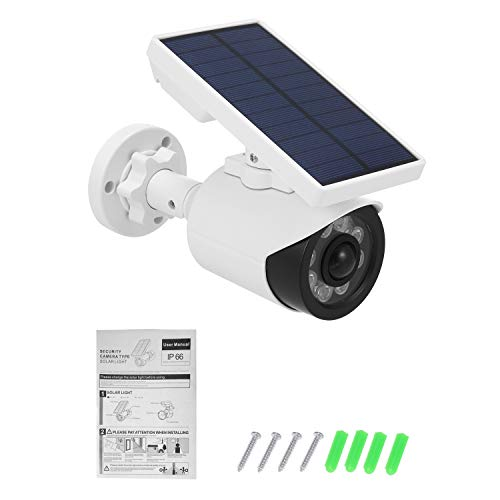 Read About LBBZJM Dummy CCTV Camera Dummy Camera with PIR Motion Sensor Solar LED Light Dummy Securi...
