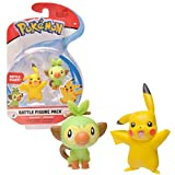 Pokemon New Sword and Shield Battle Action Figure 2 Pack - Pikachu and Grookey 2' Figures