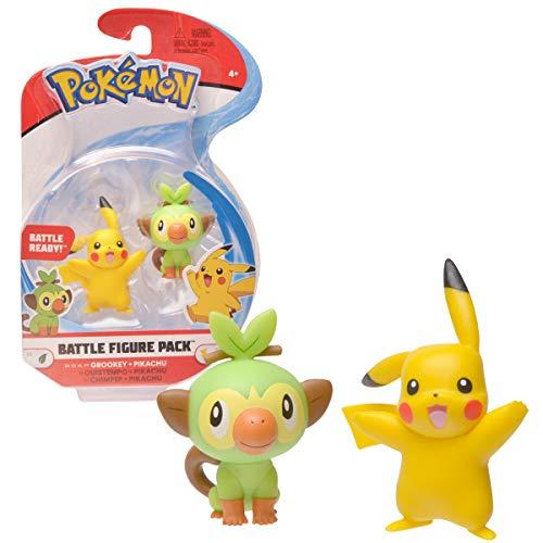 Bandai Pokémon-Pack mit 2 Figuren, 3-5 cm, Pikachu & Ouistempo, WT97625