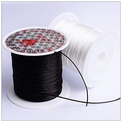ukYukiko - Cordón de poliéster elástico plano para joyería, 40 m