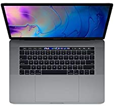 Apple MacBook Pro 15-inch w/ Touch Bar (Mid 2018), 220ppi Retina Display, 6-Core Intel Core i7, 256GB PCIe SSD, 16GB RAM, ...