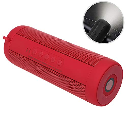 WUBAILI Bluetooth Speakers, True Wireless Stereo Waterproof IPX5 Speaker, 3D Stereo Bassup, Enhanced Bass with 2X5w Dual-Driver,Red
