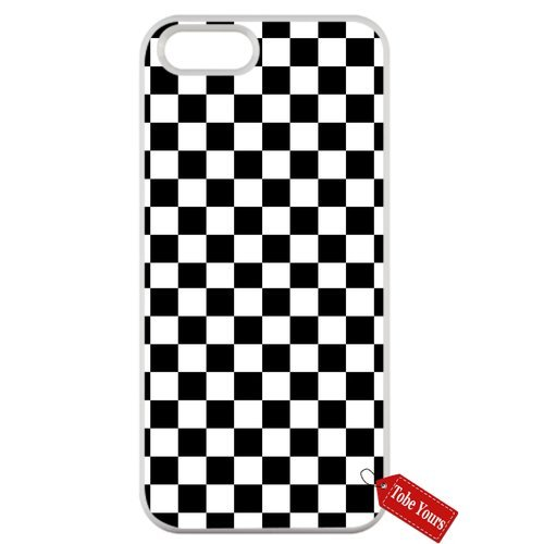 Tobe Yours Hard Phone Case Black White Checkered Protective Anti-Scratch Apple iPhone Case White- iPhone 6/6s