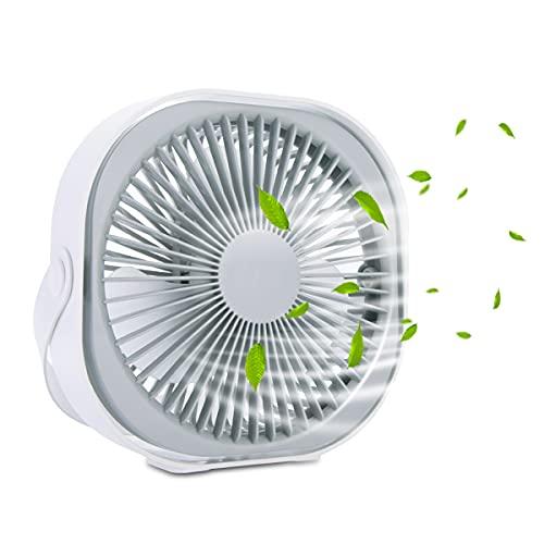 Luoistu 8-inch desktop fan, 3000mAh rechargeable built-in battery, with...
