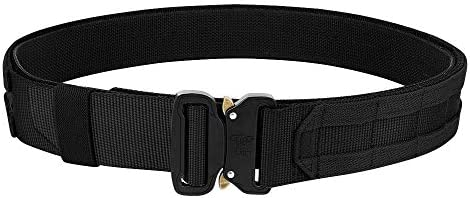 KRYDEX Quick Release Rigger MOLLE Belt 1 75 Inch Inner Outer Tactical Heavy Duty Belt Black product image