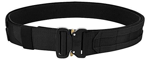 KRYDEX Quick Release Rigger MOLLE Belt 1.75 Inch Inner & Outer Tactical Heavy Duty Belt (Black, Large)