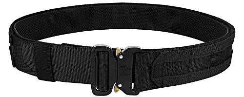 KRYDEX Quick Release Rigger MOLLE Belt 1.75 Inch Inner & Outer Tactical Heavy Duty Belt (Black, Large)