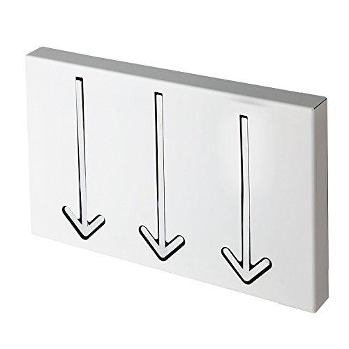 Invicta Interior Design Arrow Lot de 3 Porte-Manteaux Mural Blanc