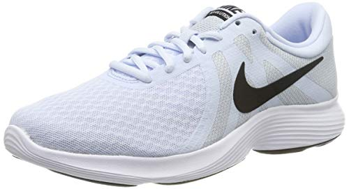 Nike Revolution 4, Mujer, Azul (Half Blue/Black/Wolf Grey/White 407), 38 EU