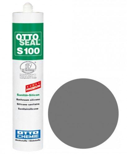 OttoSeal S100, das Premium- Sanitär- Silicon, 300ml Farbe: C02 GRAU