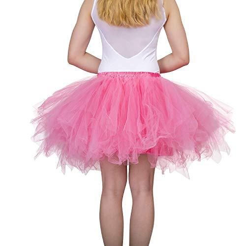 Dancina Damen Petticoat 50er Jahre Retro Tutu Tüllrock Normale und Große Größen, Wassermelone, Gr. 36-40