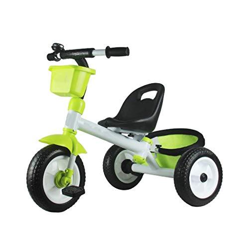 BAIYAN Triciclo Trike Triciclo Triciclo, può ospitare Triciclo per Bambini Multifunzione Portatile Portatile, Triciclo per Bambini da 2-5 Anni, 3 Colori, 65x85x54cm (Colore: Blu) (Colore: Blu)