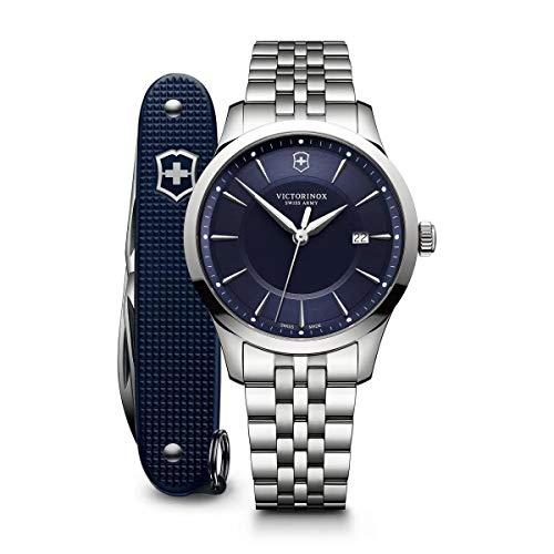 Victorinox Hombre Alliance - Reloj de Acero Inoxidable de Cuarzo analógico de fabricación Suiza con Herramienta pionera del ejército Suizo 241802.1