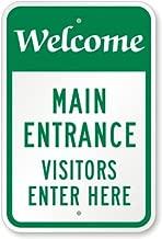 visitor entrance sign