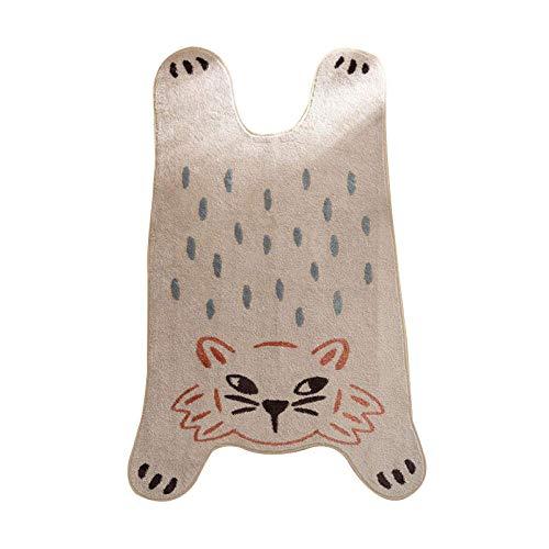 Animales de dibujos animados serie alfombra infantil área de juego alfombras lindas alfombras de impresión 3D de piel de tigre para niños dormitorio juego alfombra hogar piso esteras-80x130cm