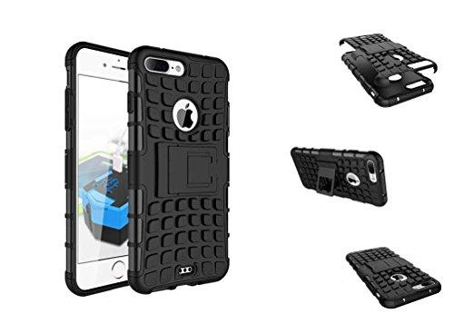 C63® Apple iPhone 7 Plus schokbestendig beschermhoesje met standaard - zwart