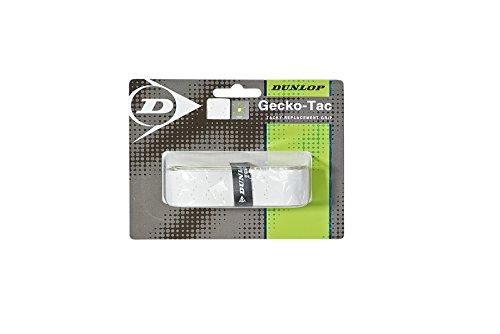 Dunlop Gecko Tac Replacement Grip Basisgriffbänder, weiß, One Size