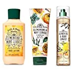 Bath and Body Works Clementine & Mint Leaves Gift Set - Body Lotion - Fine Fragrance Mist ...