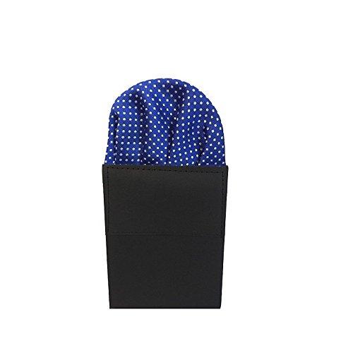 Label-Cravate Pochette-mouchoir costume pliée bleue à motifs