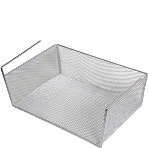 YBM Home Under Shelf Basket - Mesh Stainless Steel Storage Under Cabinet Hanging Basket Rack Maximize Space in Cabinets, Pantry Room, Bathroom, Laundry Room, and More, 1131