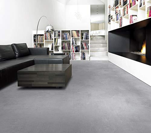 PVC Bodenbelag in verwaschenem Beton (9,95€/m²), Zuschnitt (2m breit, 7,5m lang)