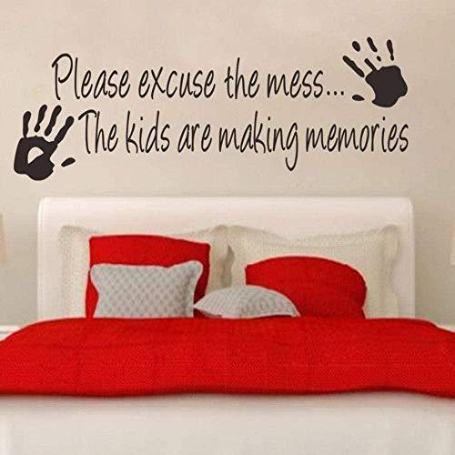 Muurtattoo wandklok wandklok Be Be Be Be Be Be verontschuldiging die woorden van inspiratie voor kinderen Mess Home DIY 23 x 35 cm