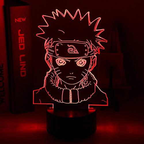 2020 personalizar Anime Naruto luz de noche 3d Uzumaki niños luz de noche Led para ChildrenTeam 7 Kakashi Hatake Sasuke Uchiha batería