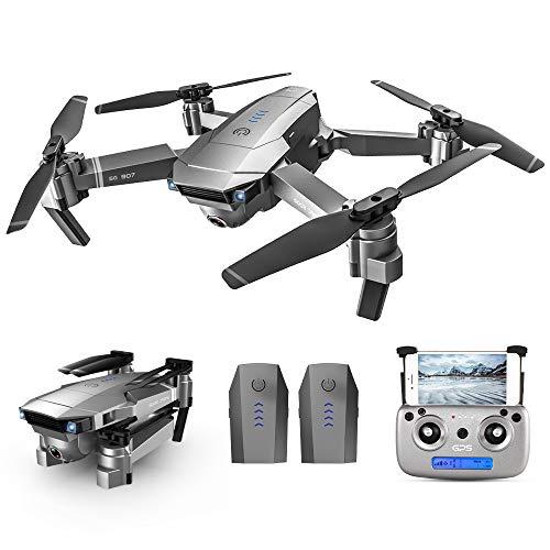 GoolRC SG907 RC Drone 5G WiFi 4K con cámara Dual GPS Posicionamiento de Flujo óptico Interfaz MV Sígueme Gesture Photos Video RC Quadcopter con 2 baterías