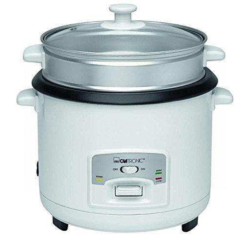 Reiskocher Dampfgarfunktion 2,5 kg gekochten Reis Reistopf Dampfgarer mit Warmhaltefunktion (Topfeinsatz, Automatische Abschaltung, 700 Watt, Antihaftbeschichtet)