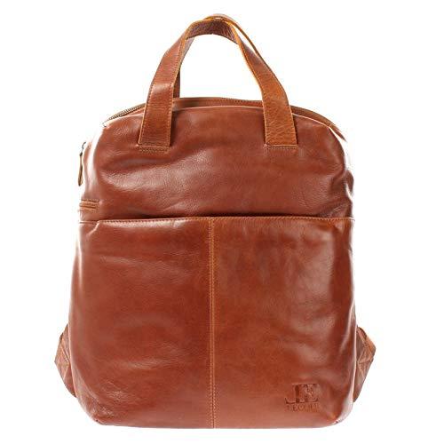 LECONI großer Rucksack Lederrucksack für Frauen und Männer DIN A4 Freizeitrucksack modern aus Büffelleder Damen Herren Leder 31x40x15cm braun LE1020-buf