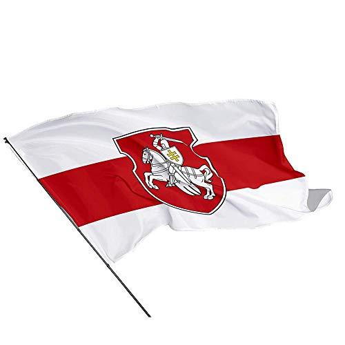 bestshop Flagge WEIßRUSSLAND 150x90cm - WEIßRUSSISCHE Fahne 90 x 150 cm - flaggen Top Qualität