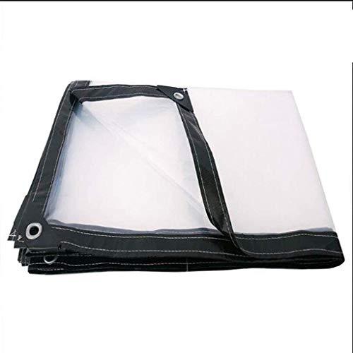 ZHANGQIANG-majiang Carpa de Lona Impermeable Plegable Transparente balcón PVC Suave (Size : 1x1m)