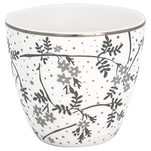 GreenGate - Latte Cup, Becher, Kaffeebecher - Amira - Porzellan - weiß - 300 ml