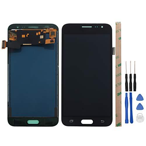YWL-OU Pantalla de repuesto para Samsung Galaxy J3 2016 J320A J320FN LCD Digitalizador de pantalla táctil + con juego de herramientas (negro)