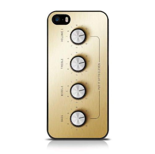 Call Candy Fino a 11 Image-Cover Posteriore Rigida per Apple iPhone, SE/5s/5, Colore: Oro/Argento