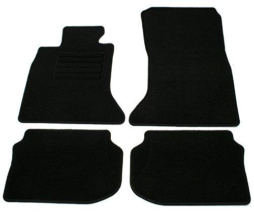 AD Tuning GmbH HG12961 Velours Passform Fußmatten Set Schwarz Autoteppiche Teppiche Carpet Floor mats
