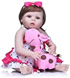 Rebirth Doll Reborn Doll 22In Full Body Silicone Vinile Bebe For Girls Kids Christmas Lovely Realistico