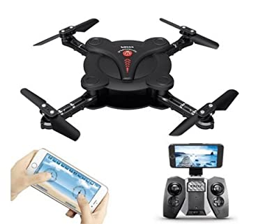 Goolsky FQ777 FQ17W 6-Axis Gyro Mini Wifi FPV Foldable G-sensor Pocket Drone with 0.3MP Camera Altitude Hold RC Quadcopter