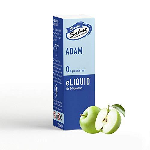 Erste Sahne E-Liquid für E-Zigaretten | Nikotinfrei & 100% Made in Germany | Mit höchster Qualität für ein einzigartiges Dampferlebnis! (Adam | Grüner Apfel, süß-säuerlich)