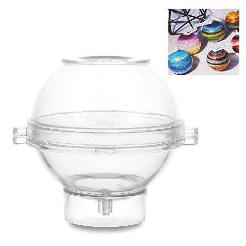 bigdispawl - Moldes de plástico para Hacer Velas, 6 Formas de jabón, Hechos a Mano, Suministros de Boda, Round Ball-7cm