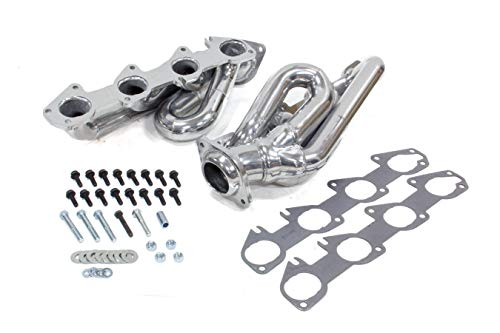 "BBK (40140) 1-5/8"" Silver Ceramic Coated Shorty Tuned-Length Exhaust Header for Dodge Truck"