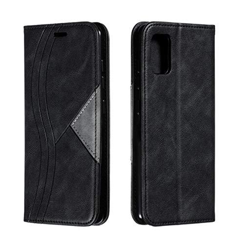 Sweau Galaxy A50 Brieftasche Hülle,Ultra Dünn Magnetische Automatisches Schließen Schutzhülle Kunstleder Lederhülle Flip Tasche Cover Kompatibel mit Samsung Galaxy A50,Schwarz
