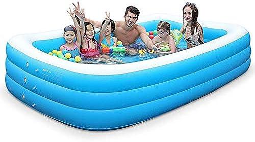 YUHAO(de) Inflatierbarer Kinderpool - Familie Und Kinder Inflatierbarer Rechteckiger Pool(2.1m)